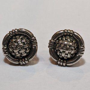 John Hardy silver and gold earrings
